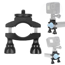 FEICHAO Bike Motorcycle Handlebar Mount Holder Clip Bracket Anti-loose Tube Clamp 1/4  for Gopro 9 8 Max Insta360 ONE R for Osmo Action