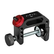 BGNING Universal Aluminum Desktop C Type Camera Screw Clamp 360 Rotatable 1/4  Mini Ball Head Tripod for SLR Flash Light Bracket Stand