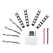JMT WS2812 LED Set 2-6S 4PCS 6 Lamp Beads LED Board with Control Module for RC FPV Racing Freestyle Drones Night Flying