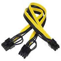 XT-XINTE 6-pin to PCIE Dual 6+2-pin (6-pin/8-pin) Power Splitter Cable GPU Graphics Card 6Pin to 2x8pin Power Supply Cable Cord
