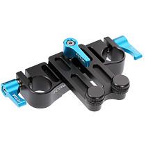 FOTGA Telephoto Lens Holder Bracket Stabilizer Lens Support Frame 15mm Double Hole Tube Clamp for SLR Camera Accessories
