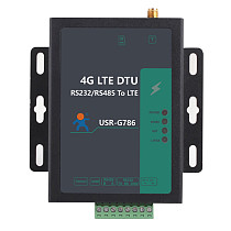 USR-G786-G RS485 Electrical Isolation Protection 4G LTE CAT 4 Cellular to Serial Modem with Global Bands | M2M Cellular Modems