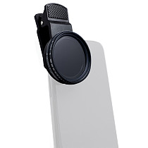 Universal Mobile Phone Lens 37MM Lens Filter Professional Cell Phone Camera Lens Close up Filter ND2-400/ND1000 For Smartphone