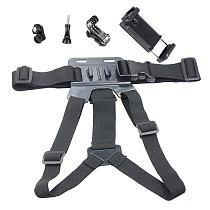 FEICHAO Adjustable Chest Mount Harness Chest Strap Belt w Phone Clip for GoPro Hero 9 8 7 6 Yi SJCAM Action Camera Accessories
