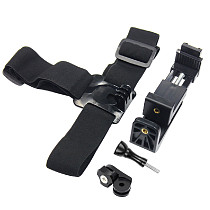 FEICAHO Head Strap Holder Accessories Adjustable Headband Helmet Mount with Phone Clip for Gopro 9 8 7 6 Yi SJCAM Action Camera