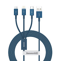 Baseus 3in1 Type-c USB Fast Charge Data Charger Cable Lead for iPhone Huawei charging data cable