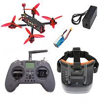 JMT Three210 V2 RC FPV Racing Drone Quadcopter with Betaflight F4 Pro V2 Flight Controller Foxeer Razer Micro 1200TVL Camera