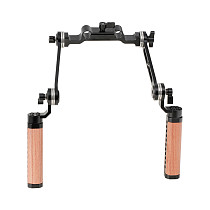 BGNING Adjustable ARRI Rosette Hand Grips w/ M6 Extension Arm for DSLR Camera Shoulder Rig Mounting Clamp 15mm Rail Follow Focus System