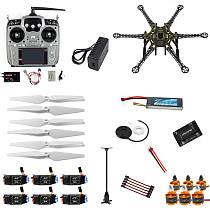 Full Set RC Drone 6-axis Aircraft Kit HMF S550 Frame 6M GPS APM 2.8 Flight Control AT10 Transmitter