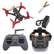 JMT DIY BNF RTF 145mm RC FPV Racing Drone Quadcopter F405 OSD 2-3S 1306 3100KV Motor 2.4G T-Lite TX 1200TVL HD Camera Goggles