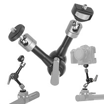 U-Shape Super Clamp Crab Claw w/ 1/4 3/8 ARRI Thread Magic Arm for Flash Light Microphone DSLR Camcorder Tripod Monitor