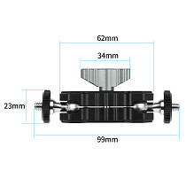 BGNING New Magic Arm 1/4  inch Screws Dual Ballhead Adapter Mount Holder for DSLR Camera Monitor LED Light Flash Monitor Video Cage Rig