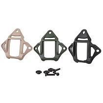 QWINOUT Aluminum Alloy Metal Helmet Base 3 Hole NVG Mount for FAST AF Helmet Bracket Helmet Accessories