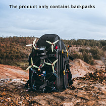IFlight Drone Backpack 530X340X260mm 33 Liter Volume Resizable Compartments Ntegrated RGB Light Strips for FPV Drone Goggles