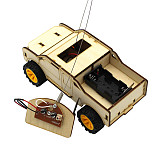 FEICHAO DIY Wooden Assembly Electric RC Car Model Kit Physical Science Experiments Technology Educational Toys For Child Gifts
