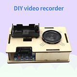 FEICHAO Wooden DIY Electric Video Recorder Toys for Children Handmade Assembled Model Building Kits Learning Education Toy