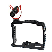 FEICHAO XT-20 XT-30 Camera Cage Rig CNC Form-Fitted for Fujifilm XT20 XT30 Video Protective Frame 1/4 3/8 Cold Shoe with Cable Clamp MIC