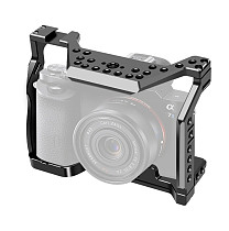 BGNING Aluminum Camera Cage for Sony A7S with Cold Shoe Mount Black Protective Full Formfitting Rig for A7S DSLR 1/4  3/8  Screw Hole
