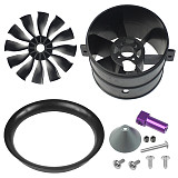 QX-MOTOR High Quality 70mm 12blades EDF Kit Ducted Fan EDF for Drone RC Brushless Motor For RC Airplane