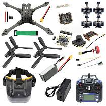 Full Set With FPV Goggles JMT Falcon-220 220mm DIY FPV Racing Drone Quadcopter BS430 30A ESC F4 Pro V2 Flight Control 1200TVL Camera FS I6 TX