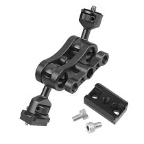 BGNing Upgraded Mini Magic Arm Double 1/4  Ball Head Adapter Monitor Mounting Stand for Ronin S SC Stabilizer Extension Bracket