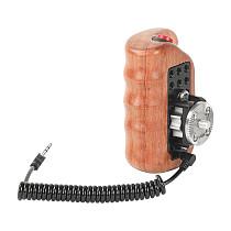 FEICHAO Camera Wooden Grip with M6 Rosette ARRI Mount Nato Rail for BMPC URSA MINI /FS5 FS7 /Z CAM Video Recording Control Side Handle