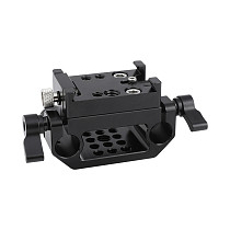 FEICHAO Quick Release Adapter Baseplate Rail Sliding Mount Plate With 15mm Dual Rod Clamp DSLR Camera Follow Focus Support System