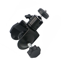QWINOUT Universal Aluminum Desktop C Type Camera Screw Clamp 360 Rotatable 1/4  Mini Ball Head Tripod for SLR Flash Light Bracket Stand