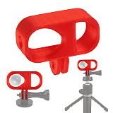 FEICHAO 3D Printed TPU Camera Mount Red for Insta360 Go2 Camera