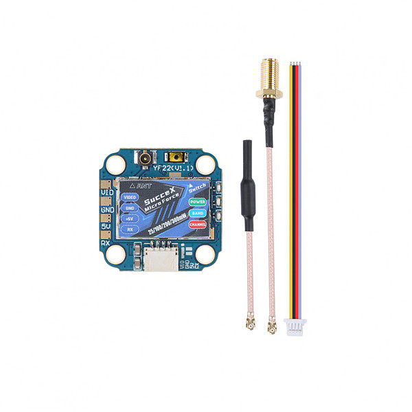 iFlight SucceX Micro Force 5.8GHz PIT/25/100/200mW/300mW FPV VTX Video Transmitter For RC Mini Drone Accessories