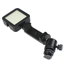 FEICHAO Metal Mobile Phone Clip Clamp Bracket Holder Stand Support Retractable Mount w Hot Shoe for 2.4 -3.55inch Smartphone LED Light