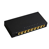 DIEWU Mini 8Port Network Switch Desktop Gigabit Fast RJ45 Ethernet Switcher LAN Switching Hub Shunt Adapter 10/100Mbps