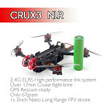 Happymodel  Crux3 NLR  68g Built-in SPI ExpressLRS 2.4GHz receiver New AIO 5in1 ELRSF4 2G4 flight controller  CADDX ANT Camera Long Range FPV quadcopter BNF