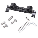 BGNing 15mm Rod Clamp with Knob Screw 1/4  3/8  Cheese Mount for DSLR Camera Shoulder Rig Rail Support System Railblock Plate Tripod Base 5D2 5D3 550D Photography