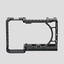 FEICHAO Aluminum Alloy SLR Cage for A6600 Video Stabilizer Rig with Cold Shoe Mount for Sony A6600 DSLR Camera Protective Frame Border