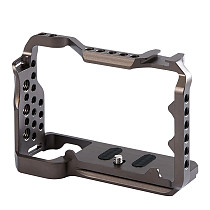 FEICHAO Metal Camera Housing Cage Rig for 1/4'' Arri Hole Protective Case for Sony A7C SLR DSLR Camera