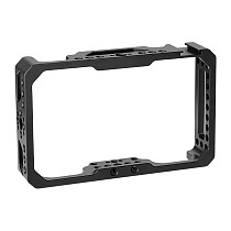 FEICHAO Protective Cage for Destview R6 UHB 5.5  Inch 2800nit 4K On-camera Monitor Formfitting Frame with 1/4 -20 Holes Cold Shoe Mounts