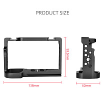 FEICHAO Camera Cage for Sony Alpha 7C Protective Frame Formfitted Border Case Arri Hole Cold Shoe Mount Rig for Alpha 7C SLR Accessories
