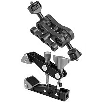 FEICHAO Super Clamp Articulated Arm Crab Claw with Dual Ball Magic Arm for Mirophone LED Video Light Monitor