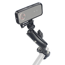FEICHAO Motorcycle Handlebar Rear with PLA Protective Frame Compatible with Insta360 One X2 XR Action Camera Stand