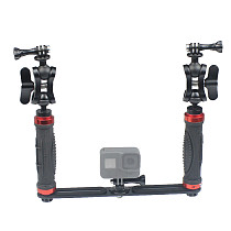 FEICHAO Dual Handheld Photography Diving Bracket Adjustable Bracket Kit Compatible with Insta360 ONE R, GoPro9/8/MAX GoPro Whole Series and Other Camera