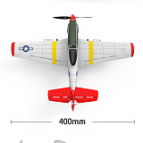 ToyTime 761-5 P51 Rc Plane Model 400Mm Wingspan 2.4G 6 Axis Gyroscope Fixed Wing Rtf Glider Epp Foam Aircraft 14Mins Drone Toy