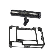 FEICHAO 7inch Monitor Form-Fitting Cage with Handle Grip 138mm Carbon Fiber Compatible with LUT7S 7 Monitor Camera