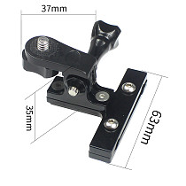 FEICHAO Bicycle Saddle Rail Seat Camera Mount Holder Adapter Compatible with GoPro Hero 9 8 MAX, Osmo Action, Xiaoyi,Insta360 ONE R
