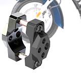 QWINOUT Universal Motorcycle Bicycle Aluminum Spotlight Headlight Phone GPS Handlebar Holder Bracket Clamp M6 Screw Fixed Frame