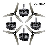 4PCS/lot iFlight XING ECO 2207 1800KV 2450KV 2750KV 2-6S Brushless Motor w/ 5.1inch Propeller for RC Freestyle FPV Racing Drone
