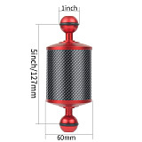 Underwater Upgraded Carbon Fiber Float Buoyancy Aquatic Arm 10  12  Length Dia 60mm Dual Ball for Gopro DSLR Camera Diving Tray