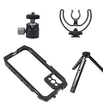 FEICHAO Smartphone Video Cage Stabilizer Kit Bracket for iPhone 12 / 12 Pro Mobile Phone