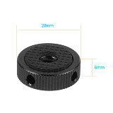 BGNing For insta360 One X X2 R Mini Tripod Adapter 1/4  Screw 2 in 1 Quick-Release Base CNC for Gopro Hero 9 8 7 5 Yi 4K Action Camera