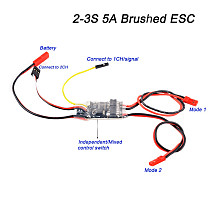 FEICHAO 5A ESC Dual Way Brushed Speed Controller 2S/3S Lipo for RC Model Boat/Tank Tracked vehicle Spare Accessories